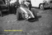 "MASERATI 250F Carroll Shelby car in Silverstone paddock 1958 Brit GP.Amateur 10x7""photo (a)"